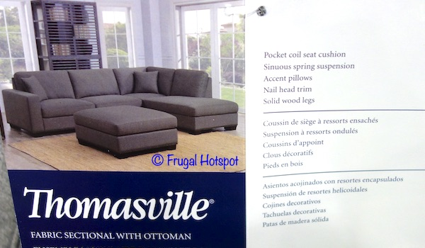 Thomasville Fabric Sectional with Ottoman Costco