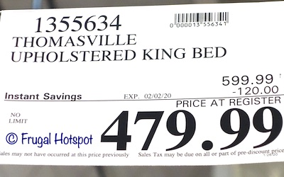 Thomasville Upholstered Bed King Costco Sale Price