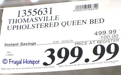 Thomasville Upholstered Queen Bed Costco Sale Price