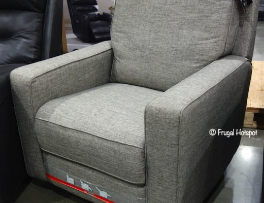 True Innovations Gray Fabric Swivel Glider Recliner Costco Display