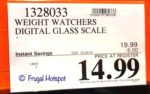 Weight Watchers Digital Glass Scale Costco Sale Price