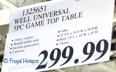 Well Universal 5-Piece Game Table Set Costco Price