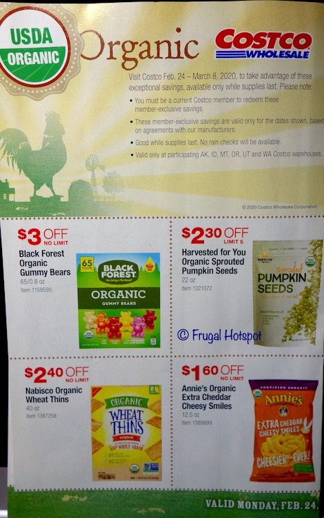 Costco Organic Coupon Book February : March 2020 Page 1