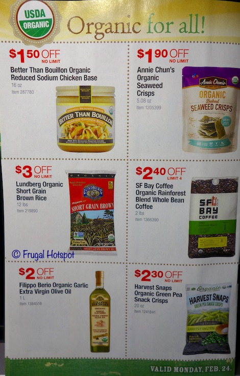 Costco Organic Coupon Book February : March 2020 Page 3