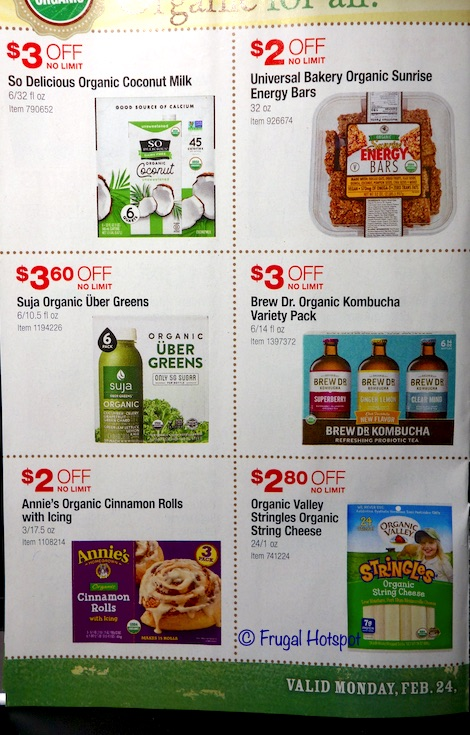 Costco Organic Coupon Book February : March 2020 Page 5