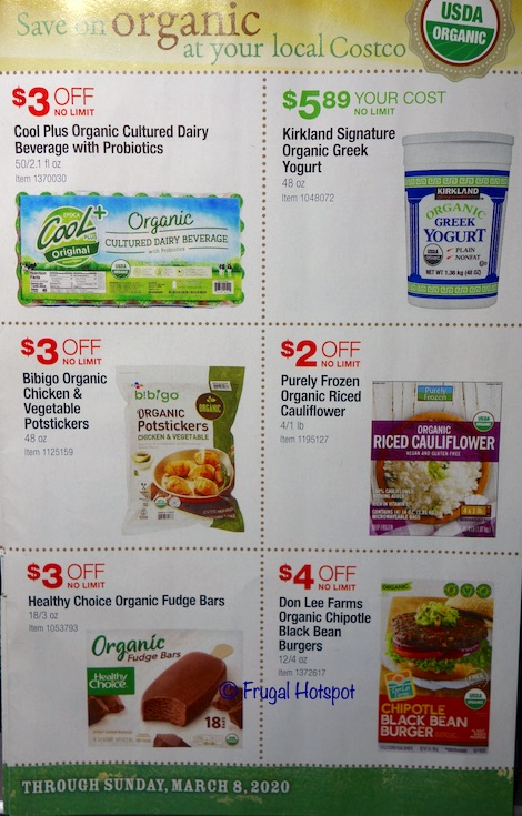 Costco Organic Coupon Book February : March 2020 Page 6