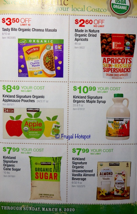 Costco Organic Coupon Book February : March 2020 Page4