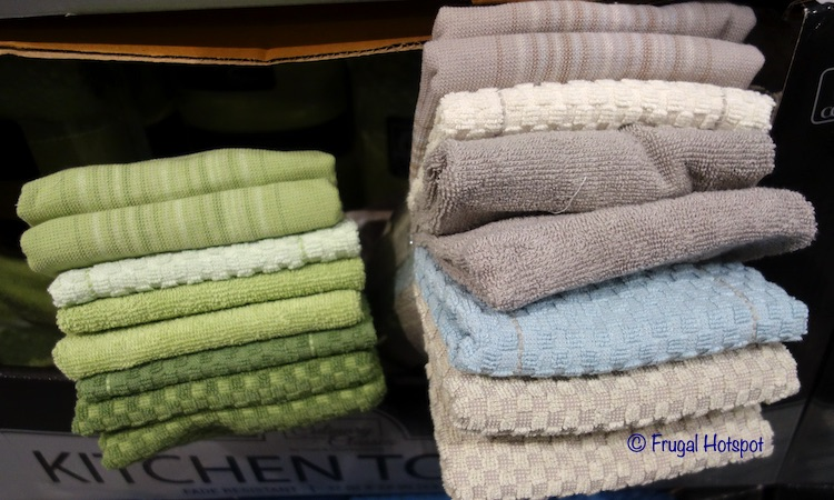 Culinary Classics Kitchen Towel Set Green and Taupe Costco