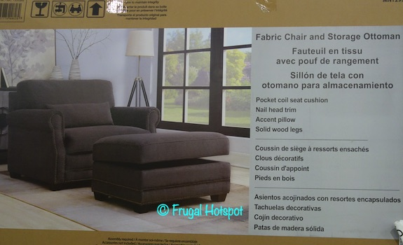 Fabric Chair with Storage Ottoman Costco