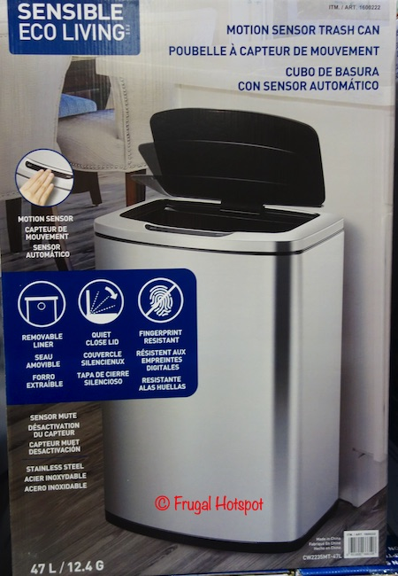 Sensible Eco Living Motion Sensor Trash Can Costco