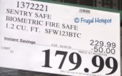 Sentry Safe Biometric Fire Safe Costco Sale Price