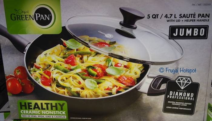 The Original GreenPan Jumbo 5-Quart Saute Pan Costco
