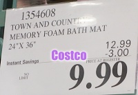 Town and Country Memory Foam Bath Mat Costco Sale Price