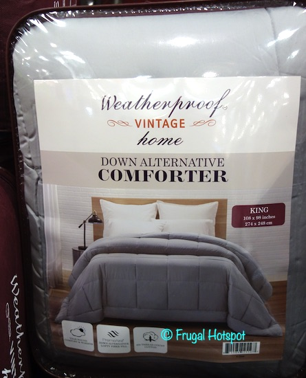 Weatherproof Vintage Home Down Alternative Comforter Gray Costco