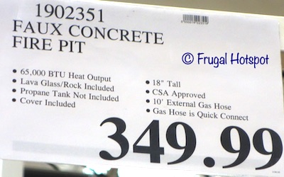 Bond Faux Concrete Gas Fire Pit Costco Price