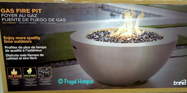 Bond Faux Concrete Gas Fire Pit Costco