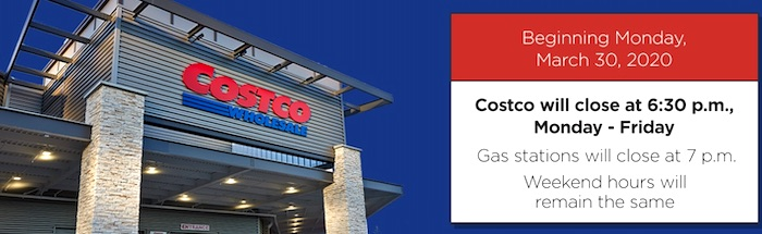 Costco New Warehouse Hours March 2020