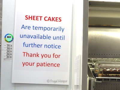 Costco Sheet Cake Temporarily Discontinued. 4/20/20.