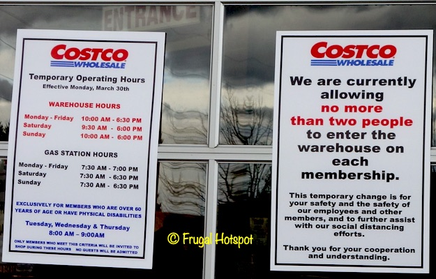 Costco Temporary hours and Guest shopping policy April 2020