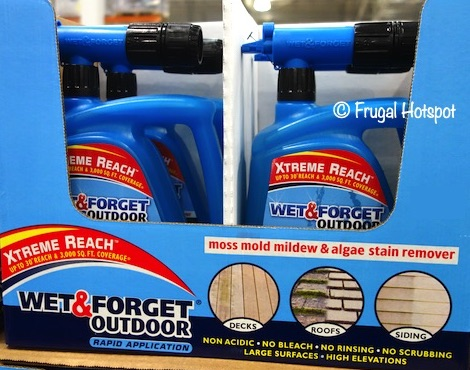 Wet & Forget Outdoors Moss, Mold, Mildew, Algae Stain Remover 68 oz Costco