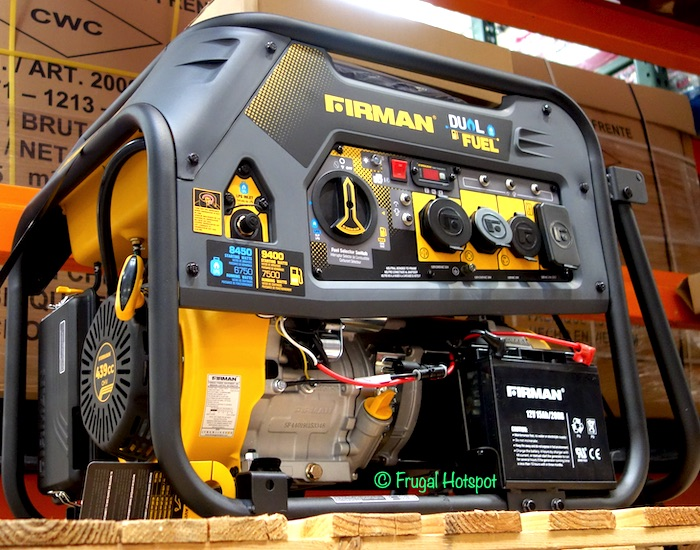 Firman Power Dual Fuel Generator Costco Display