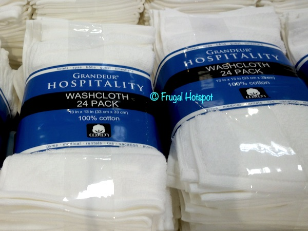 Grandeur Hospitality Washcloth 24-Pack Costco