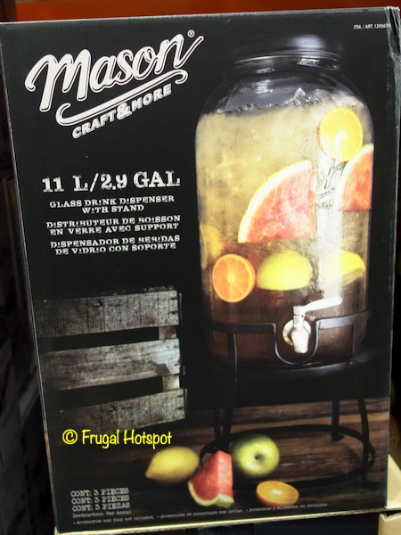 Mason Glass Drink Dispenser Costco