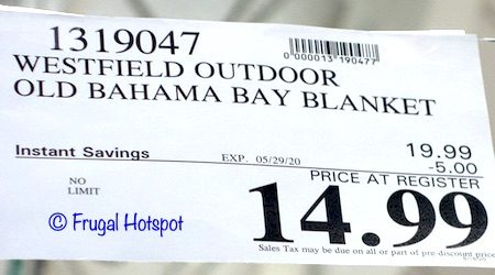 Old Bahama Bay Outdoor Blanket Costco Sale Price