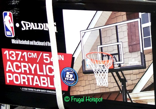 Spalding 54 Portable Basketball Hoop System Costco