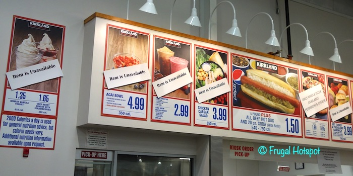 The Impact of Coronavirus at Costco (Food Court Limited Menu) March 17 2020