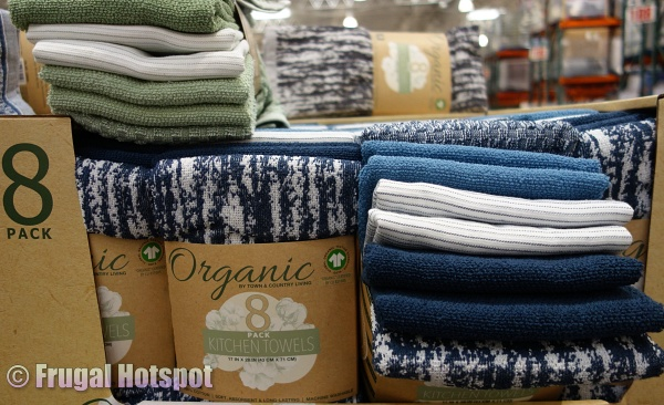 Blue Town & Country Organic Kitchen Towels   Costco