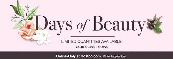 Costco Days Of Beauty April 2020