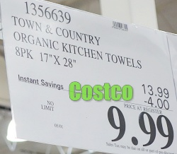 Costco Sale Price   Town & Country Organic Kitchen Towel
