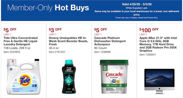 Costco Warehouse Hot Buys April 2020 p1