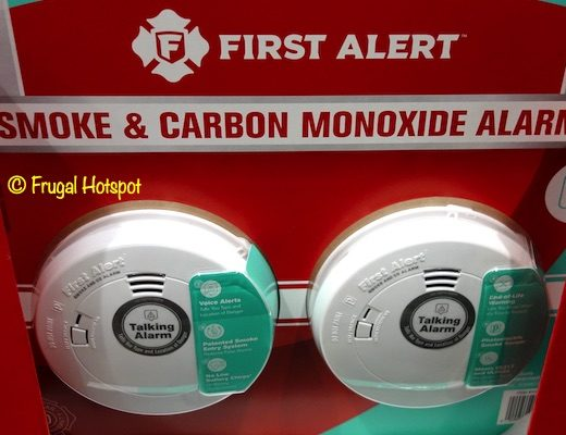 First Alert 10 Year Smoke and Carbon Monoxide Alarm 2-Pack Costco