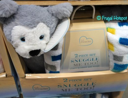Little Miracles Snuggle Me Too Blanket Gray Costco