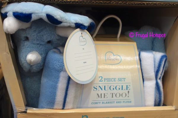 Little Miracles Snuggle Me Too Blanket Plush Blue Costco