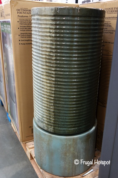 Modern Ribbed Outdoor Fountain Costco Display