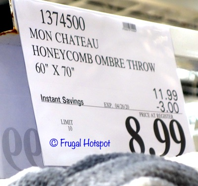 Mon Chateau Honeycomb Ombre Throw Costco Sale Price