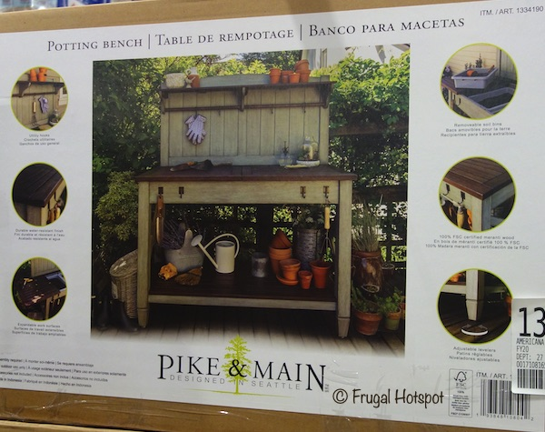 Pike & Main Americana Potting Bench Costco