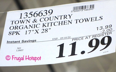 Town Country Organic Kitchen Towels Costco Sale Price