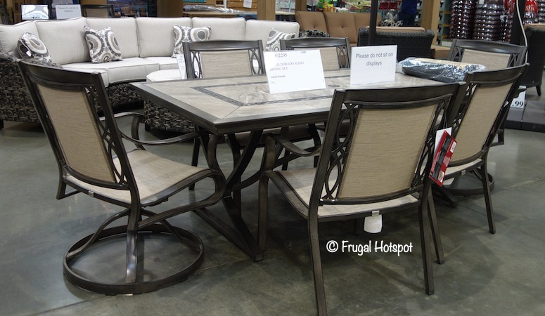 Agio Eldorado 7-piece Sling Dining Set Costco Item 1902295