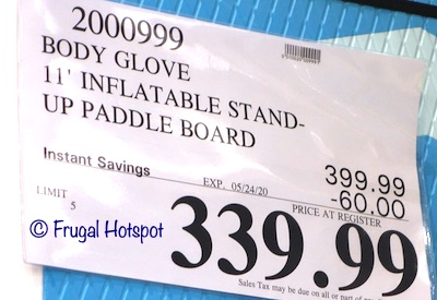 Body Glove 11' Inflatable Stand Up Paddle Board Costco Sale Price