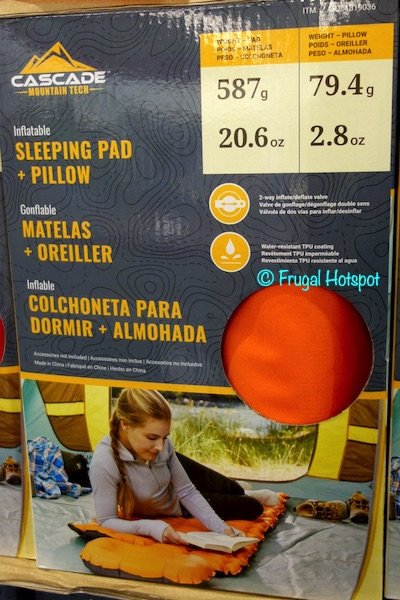 Cascade Mt. Tech Inflatable Sleeping Pad Costco