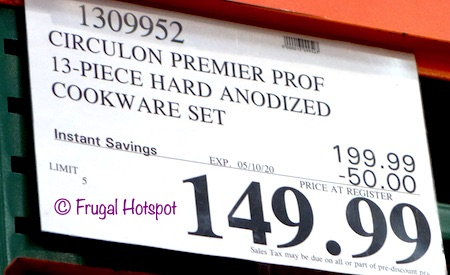 Circulon Hard Anodized Cookware Costco Sale Price