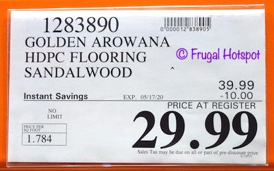 Costco Sale Golden Arowana Waterproof Flooring Frugal Hotspot