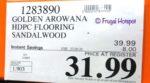 Golden Arowana Waterproof Flooring Sandalwood Costco Sale Price