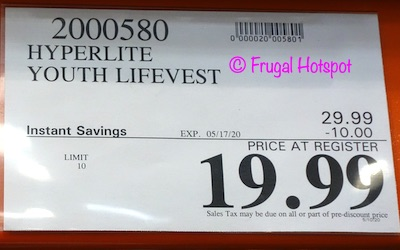 Hyperlite Youth Lifevest Costco Sale Price