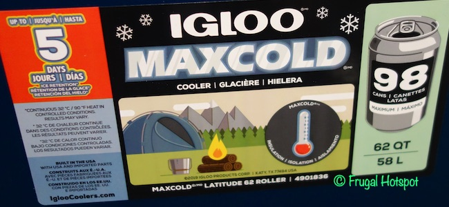 Igloo 62 Quart Rolling Cooler Costco