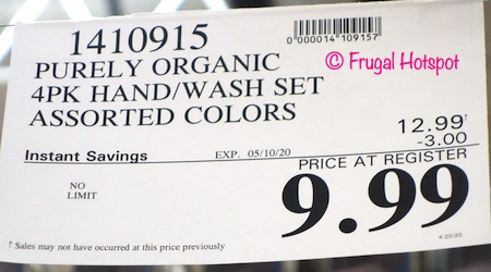 Purely Organic Hand Towel Wash Cloth Costco Sale Price